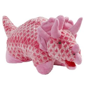 Dinosaur Pillow Pets - Pink Triceratops Pillow Pet