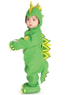 EZ-On Romper Dinosaur Costume - Infant and Newborn