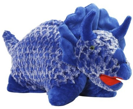 Dinosaur Pillow Pet - Large Blue Triceratops Pillow Pet